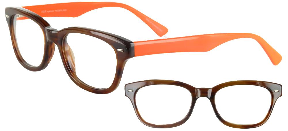 Lunettes color�es Ray Noisette Tangerine