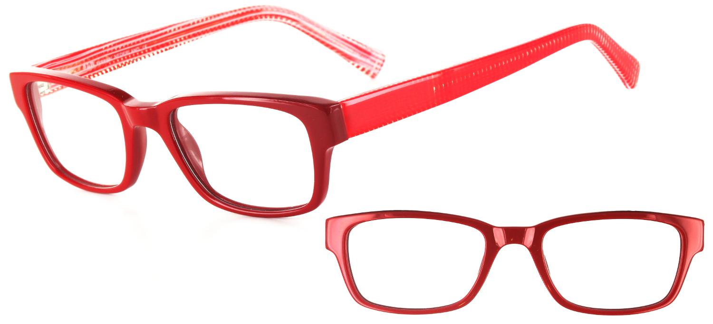 Lunettes color�es Djinius Rouge et Rouge/cristal
