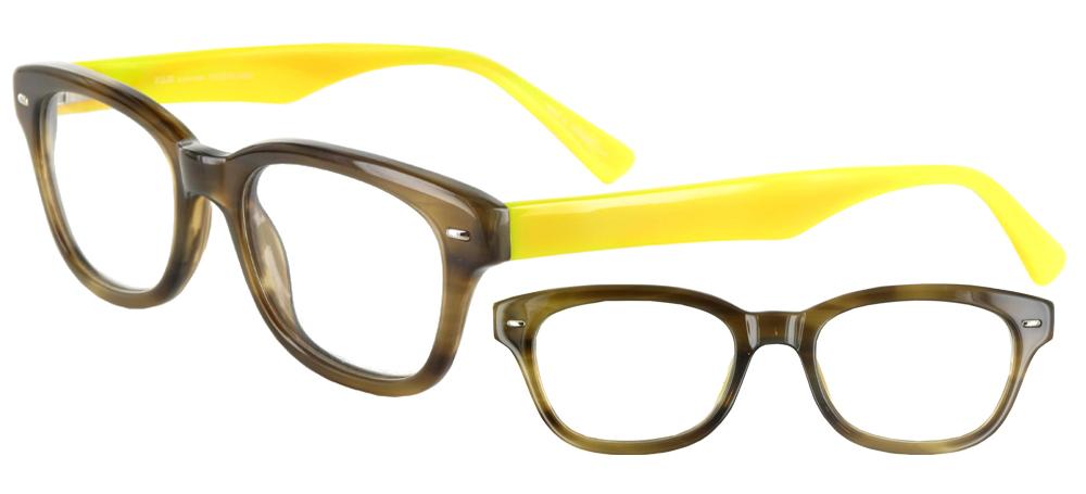 Lunettes color�es Ray Vert et jaune