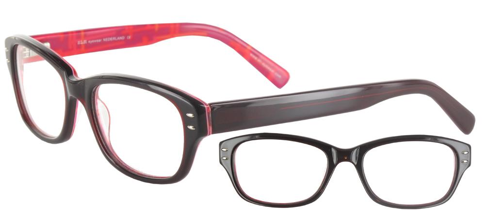 Lunettes color�es Goglio Noir rouge