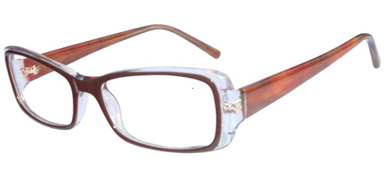 lunettes de vue ExperOptic Maskina Marron Cristal Ambre