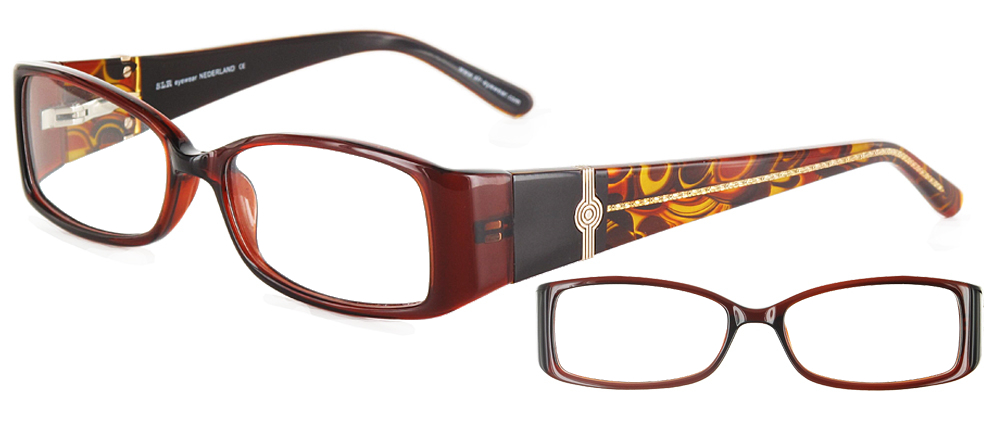 lunettes de vue ExperOptic Ludmila Caramel chocolat et mordoree