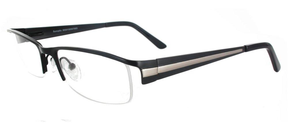 lunettes de vue ExperOptic Oslo Noir Gun