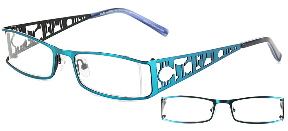 lunettes de vue ExperOptic Izmir Violine et encre