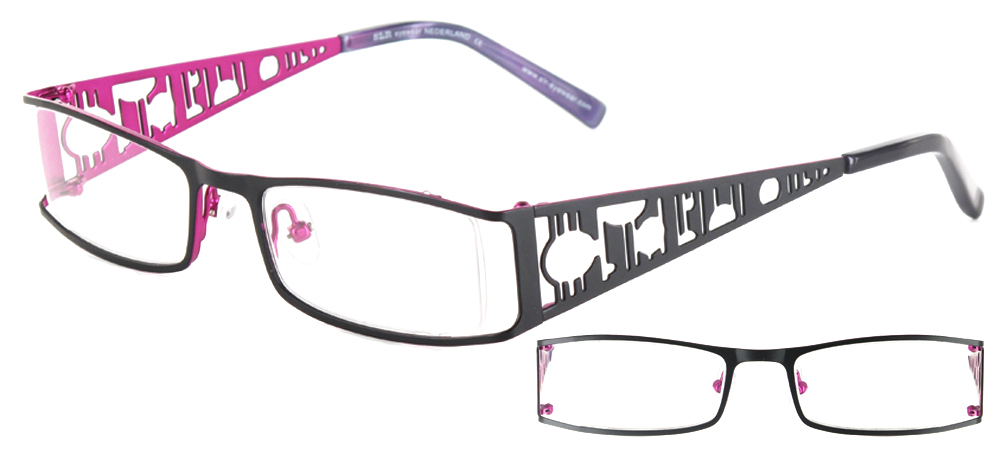 lunettes de vue ExperOptic Izmir Noir et mauve