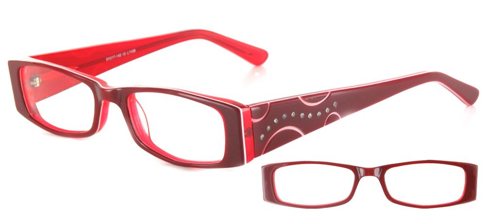 lunettes de vue ExperOptic Aurora Rouge sang et clair
