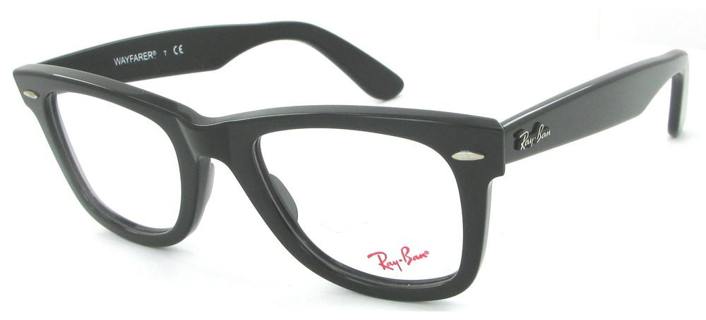 lunettes de vue Ray-Ban RX5121 2000 Wayfarer Noir PROMO T56