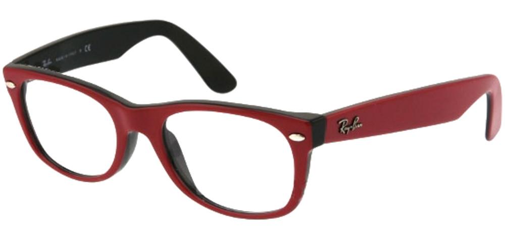 lunettes de vue rx5184 2378 new wayfarer rouge et noir ray ban. Black Bedroom Furniture Sets. Home Design Ideas