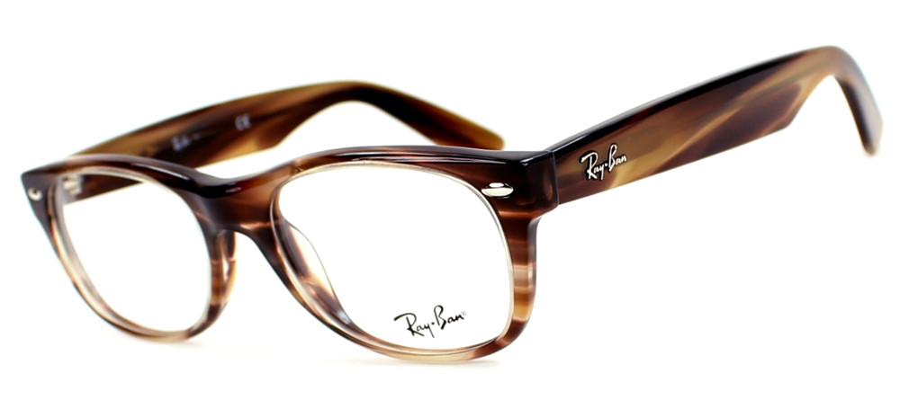 Lunettes color�es Ray Ban RX 5184 5139 New Wayfarer Bandes Marron