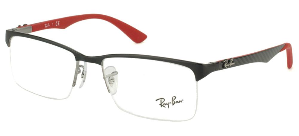 Lunettes color�es Ray Ban RX 8411 2509 Noir Brillant carbone