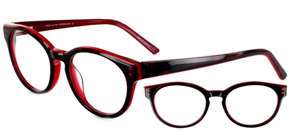 lunettes de vue ExperOptic Uncle Noir et Rouge