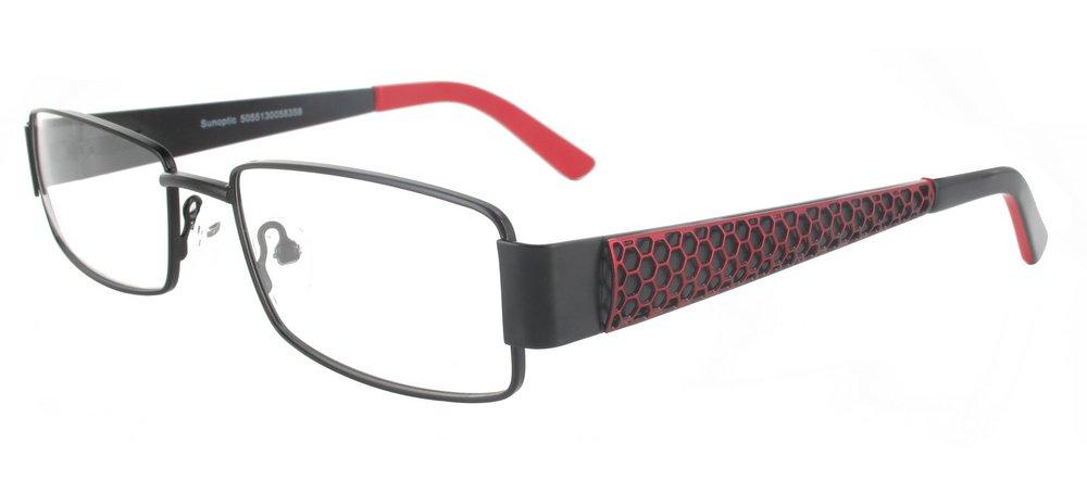 lunettes de vue ExperOptic Honey Noir Carmin