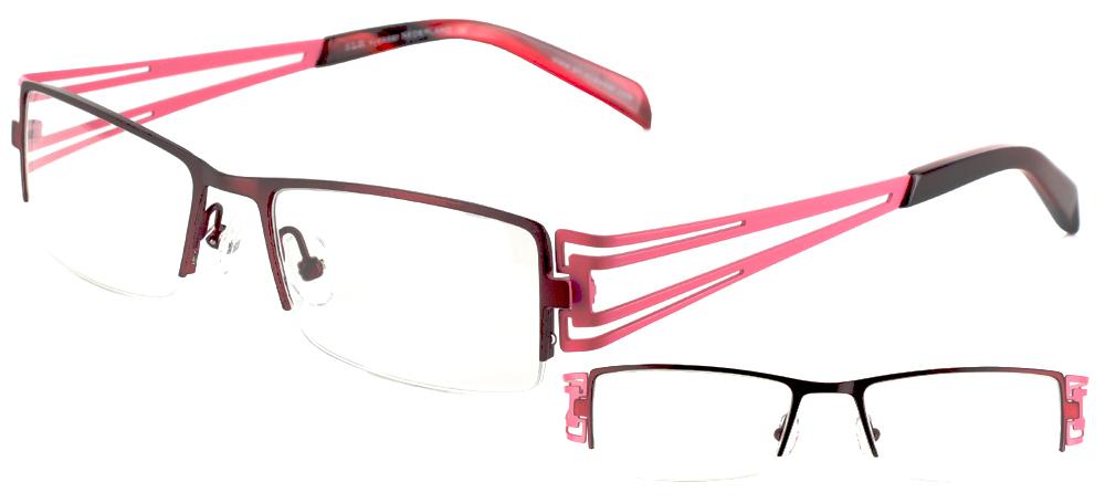 lunettes de vue ExperOptic Vendome marron et rose