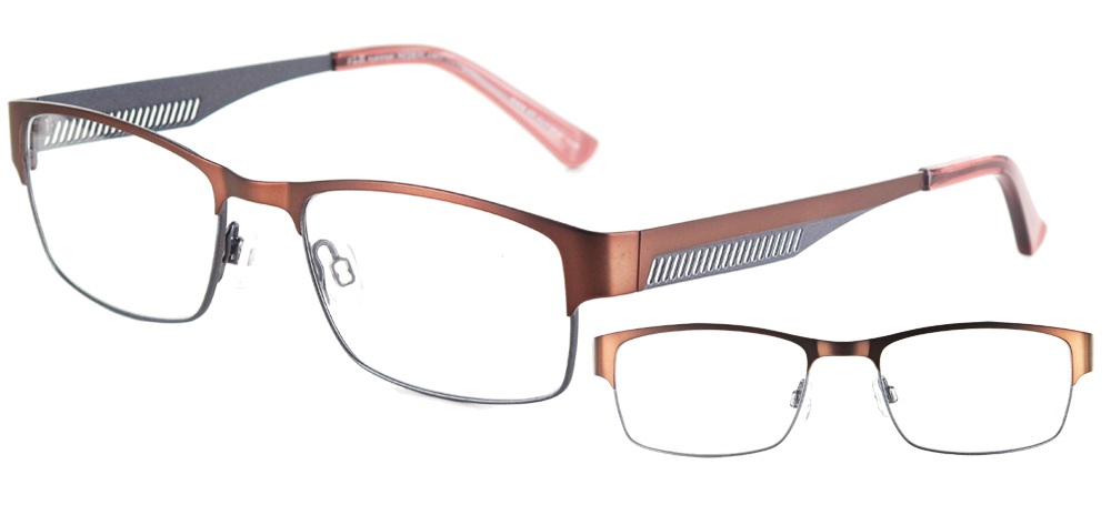lunettes de vue ExperOptic Formula Marron et gris