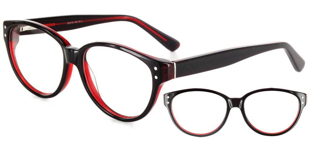lunettes de vue ExperOptic Hepine Carmin Rouge