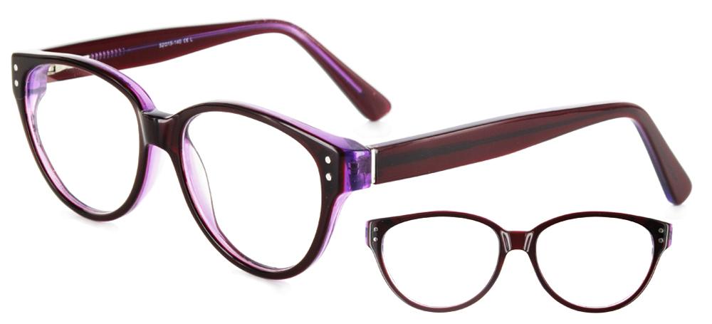 lunettes de vue ExperOptic Hepine Carmin Mauve