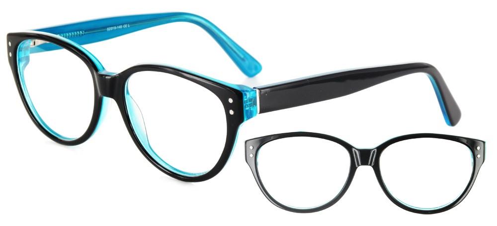 lunettes de vue ExperOptic Hepine Noir Turquoise