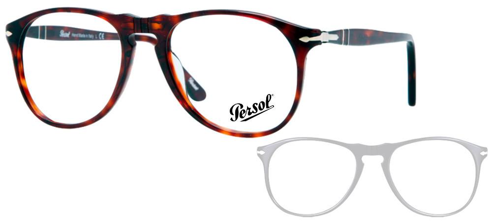 lunettes de vue Persol PO9649V 24 Havane