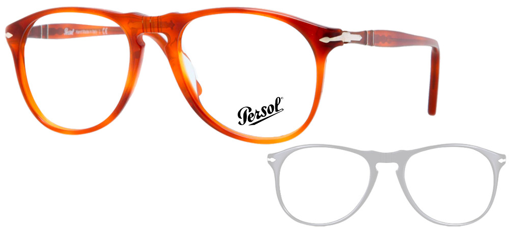 lunettes de vue Persol PO9649V 96 Havane clair
