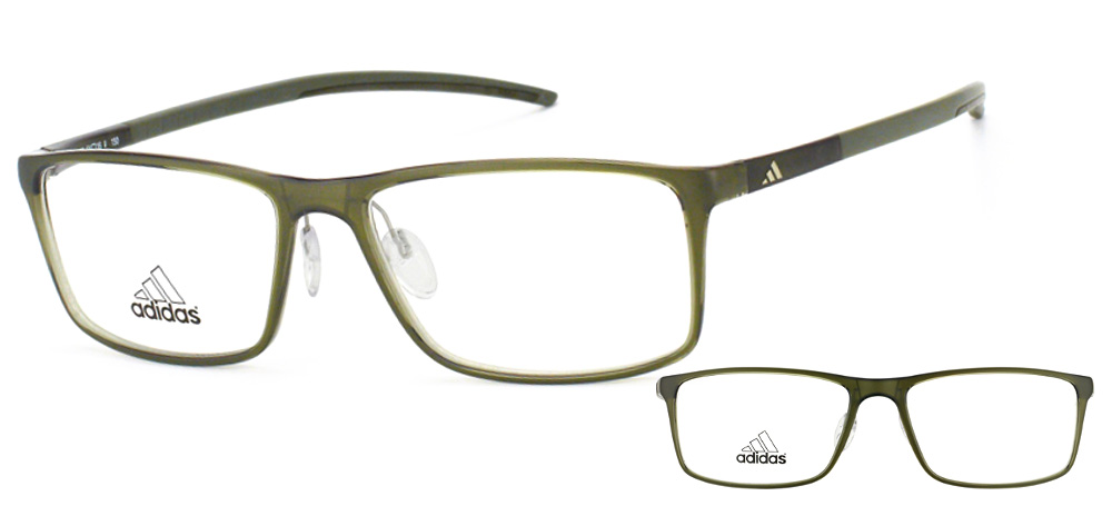 Lunettes color�es Adidas A 692 6055 Vert Olive