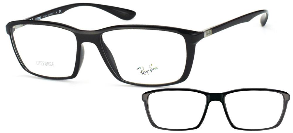 fbd5e0496d0d2 Lunettes Ray-Ban RX7018 5206 Lite Force Noir