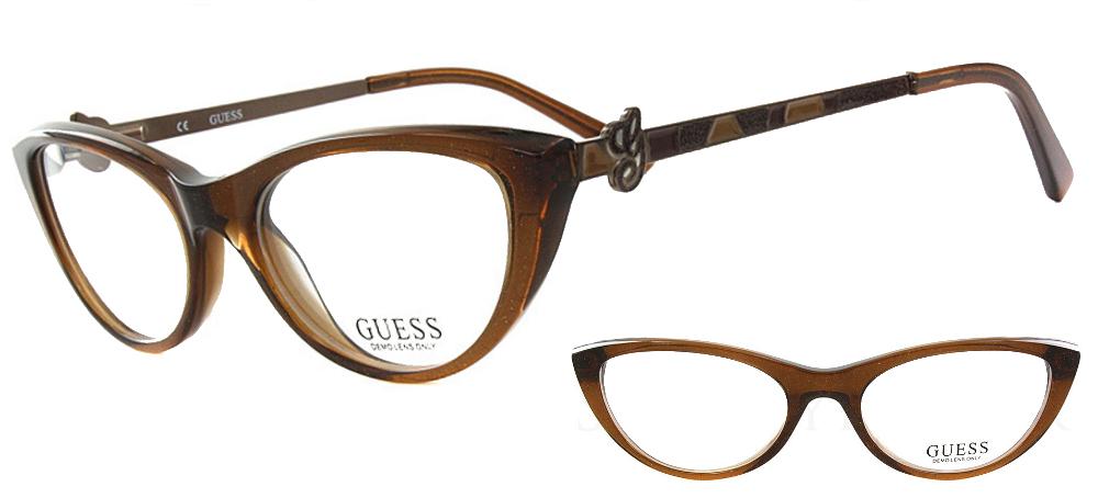 lunettes de vue gu2257 marron guess. Black Bedroom Furniture Sets. Home Design Ideas