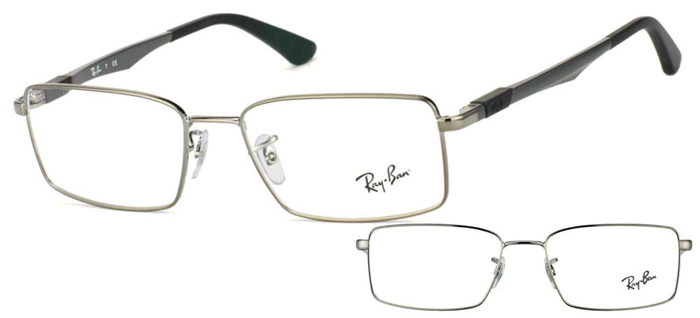 lunettes de vue Ray-Ban RX6275 2502 Gun brillant et gris