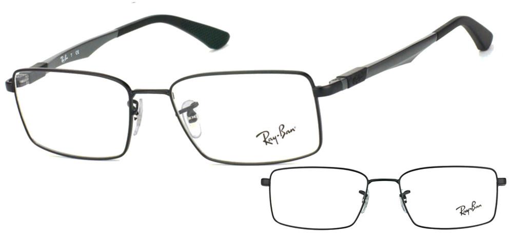 lunettes de vue Ray-Ban RX6275 2503 Noir et Gris
