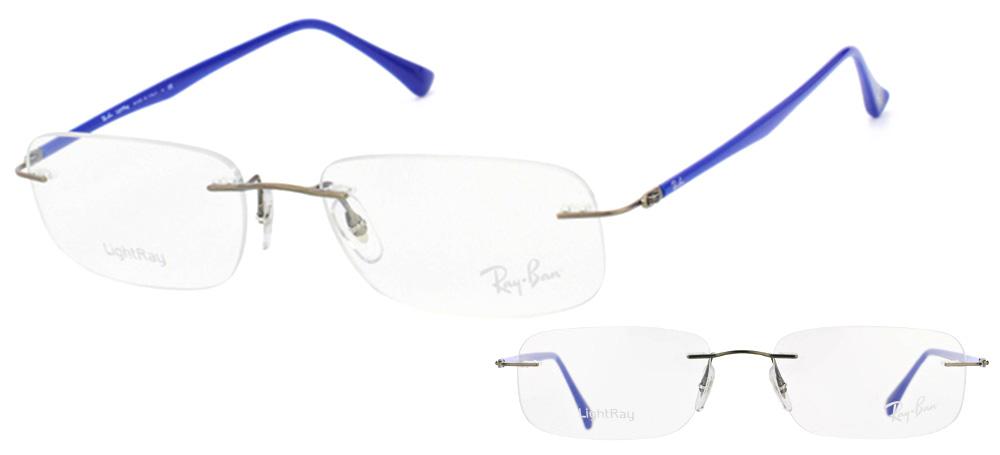 Lunettes color�es Ray Ban RX 8704 1162 Titane Gun et bleu