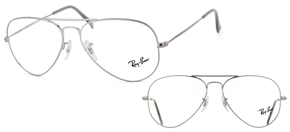 lunettes de vue rx6049 2620 5514 aviator gun acier ray ban. Black Bedroom Furniture Sets. Home Design Ideas