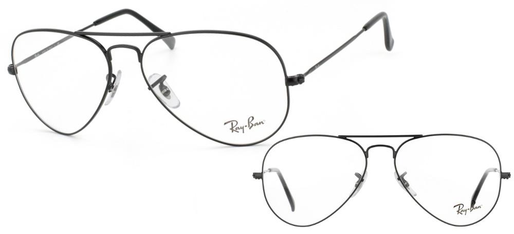 lunettes de vue Ray-Ban Aviator RX6489-2503 Noir Mat