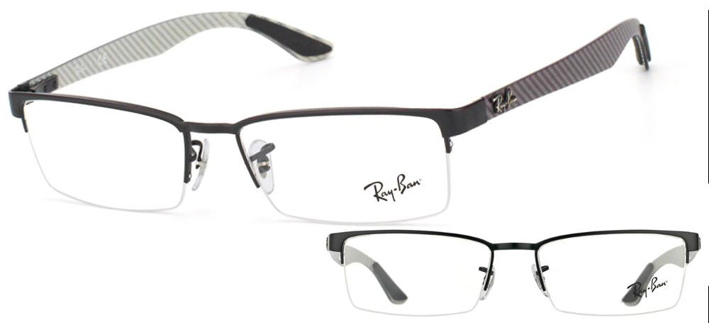 lunettes de vue Ray-Ban RX8412 2503 Noir carbone gris PROMO T54