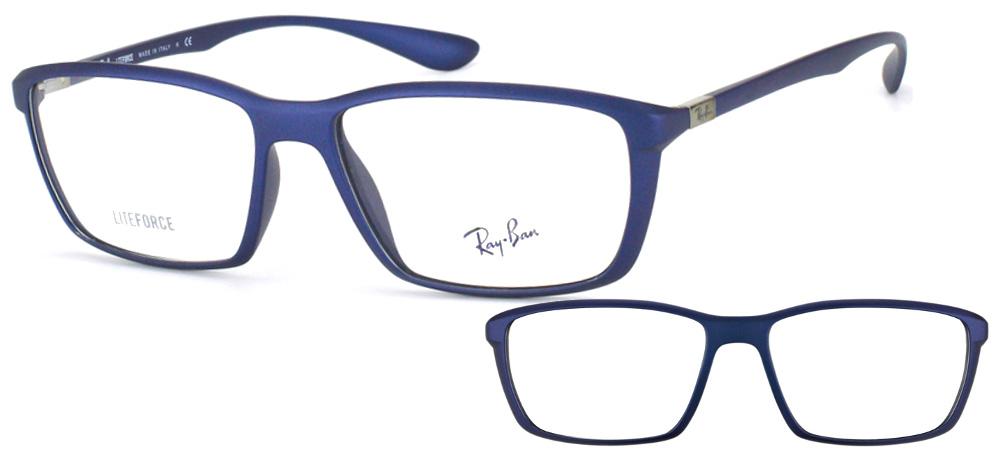 Lunettes color�es Ray Ban Lite Force RX 7018 5207 Bleu mat