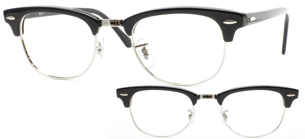 834d90072a315 Lunettes Ray-Ban RX5154-2000 Noir brillant Clubmaster