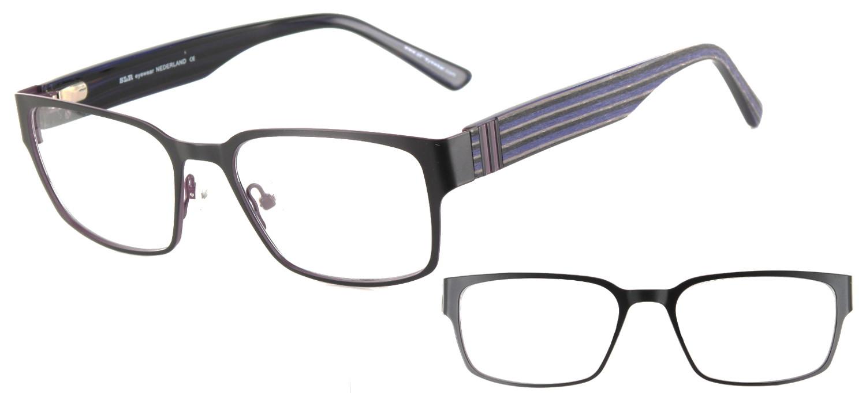 lunettes de vue ExperOptic Hollywood Noir et bleu nuit