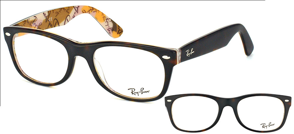 lunettes de vue ray ban wayfarer homme. RX5184 5409 New Wayfarer Havane  fonce sur motif 66eaec1cbe23