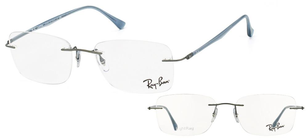 e82d14f945 lunettes de vue Ray-Ban RX8725-1028 LightRay Gris fonce