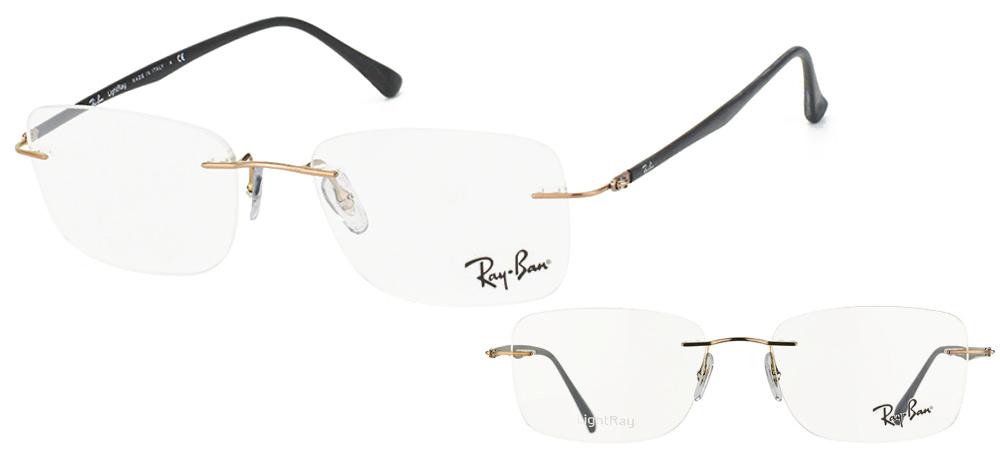 lunettes de vue Ray-Ban RX8725-1131 LightRay Marron