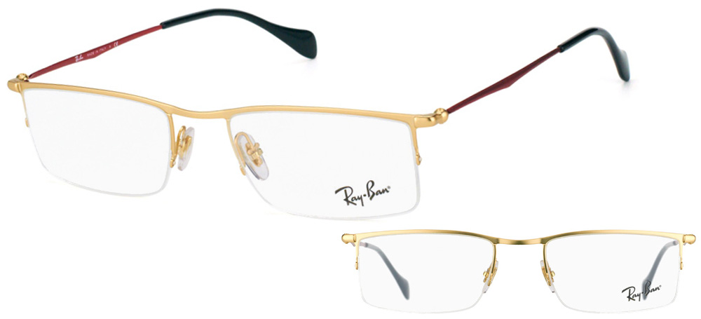 Lunettes color�es Ray-Ban RX6291-2785 Or Rouge