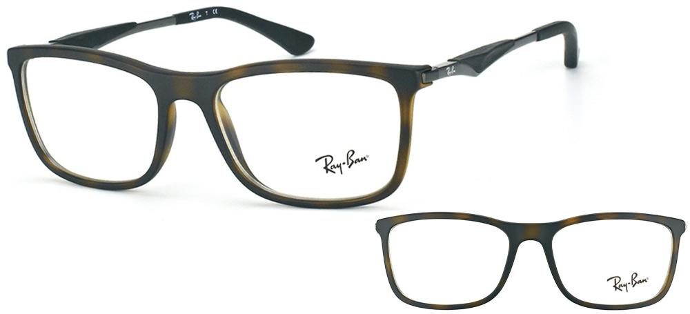 lunettes de vue Ray-Ban RX7029-5200 havane mat