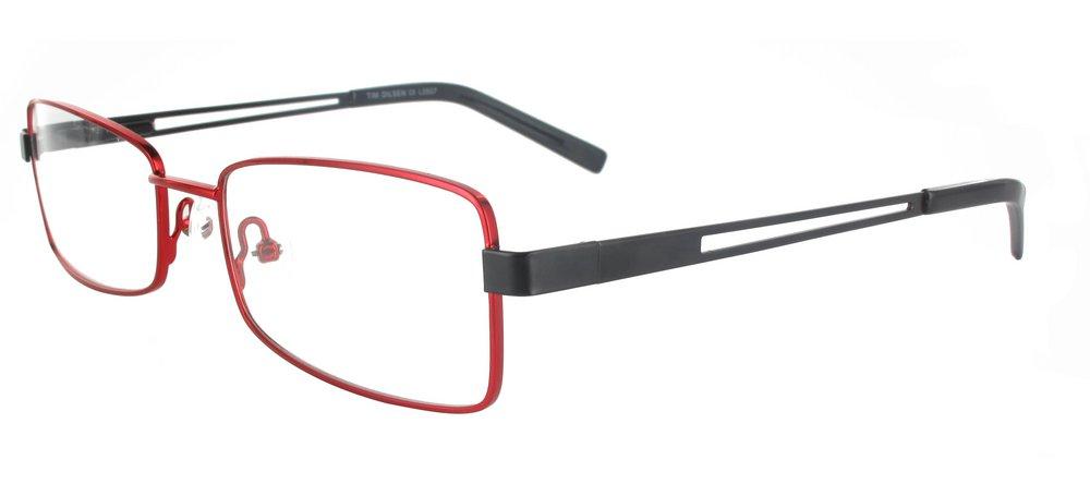 lunettes de vue ExperOptic Laura Bourgogne et Noir
