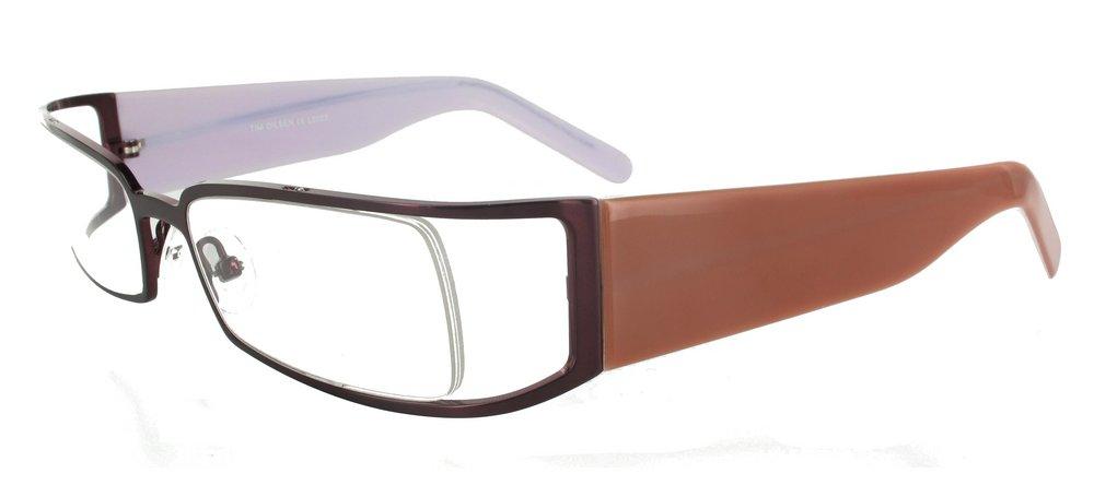 lunettes de vue ExperOptic Ombrelle Marron et Rose