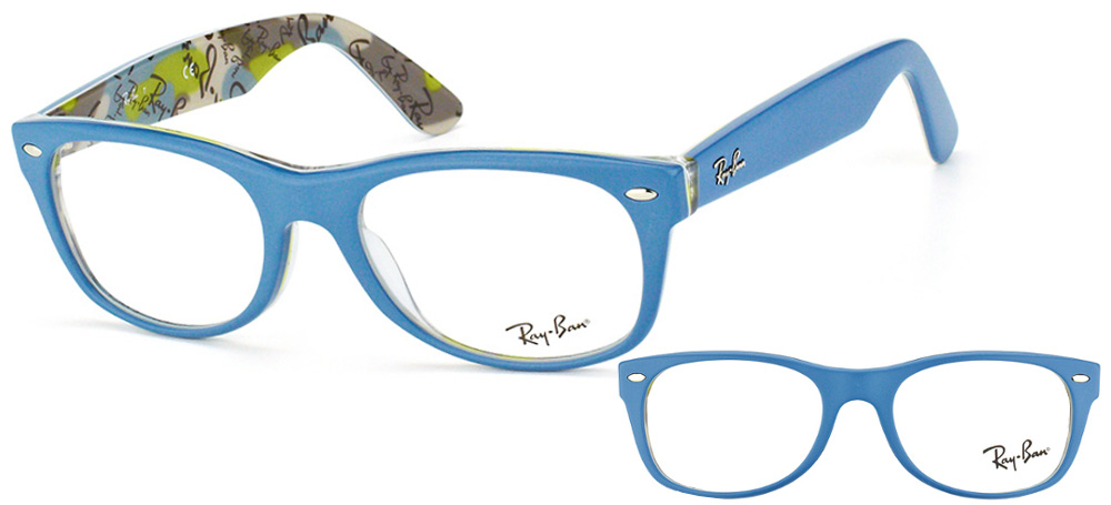 lunettes ray ban rx5184 5407 new wayfarer bleu. Black Bedroom Furniture Sets. Home Design Ideas