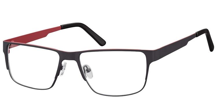 lunettes de vue ExperOptic Imola Gris Rouge