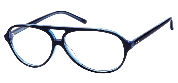 Lunettes color�es Milton Noir Bleu