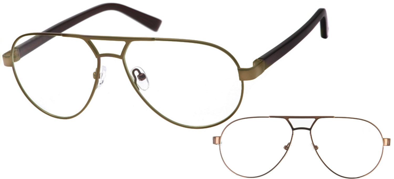 lunettes de vue ExperOptic Suzuka Marron Sombre