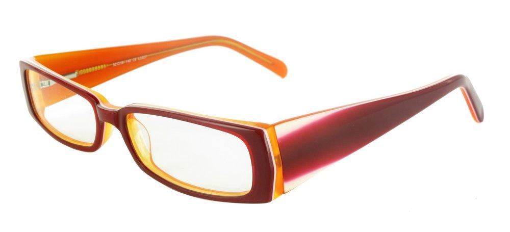 lunettes de vue ExperOptic Isla Bolanos Bordeaux Orange