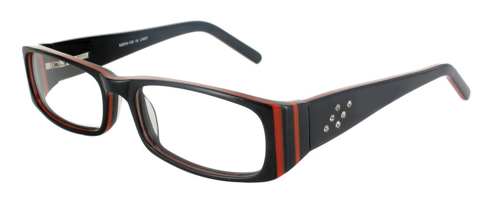 lunettes de vue ExperOptic Aldebaran Noir et Abricot