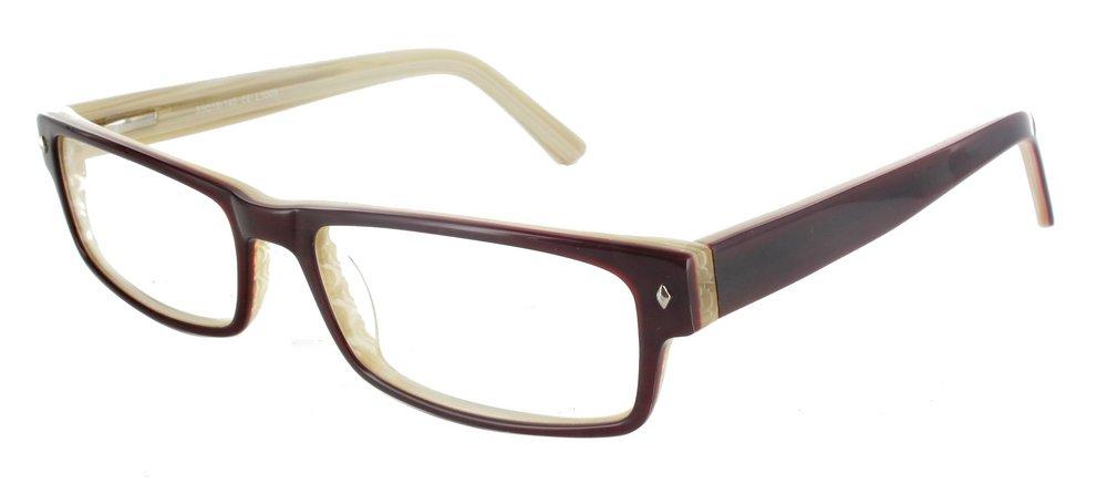 lunettes de vue ExperOptic Cambridge Grenat Ivoire