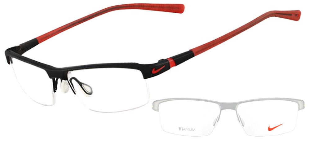 Lunettes color�es Nike 6050 001 Noir Satin